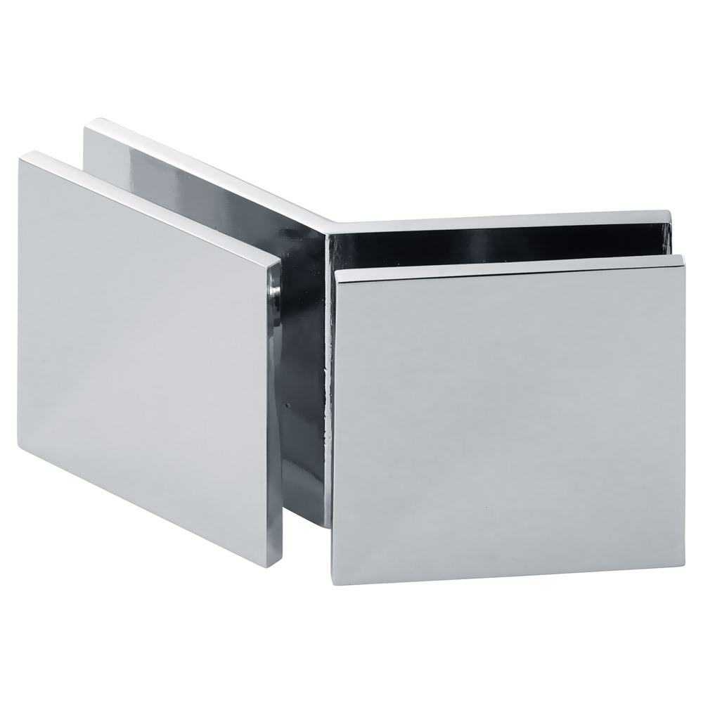 Square 135 Degree Glass-to-Glass ''Y'' Transom Clamp