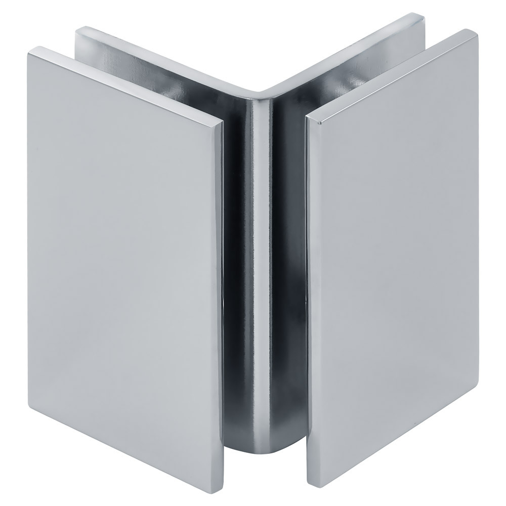 Square 90 Degree Glass-to-Glass Bracket