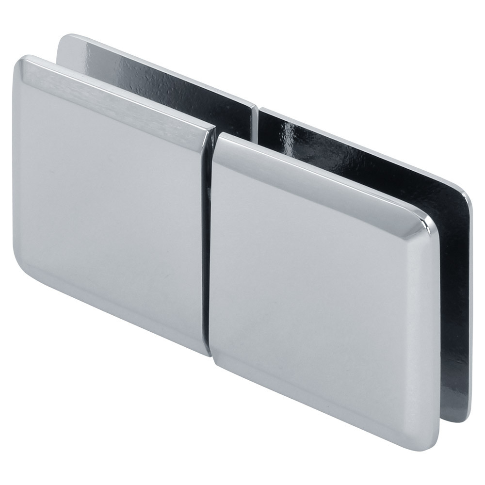 Beveled 180 Degree Glass-to-Glass Movable Transom Clamp