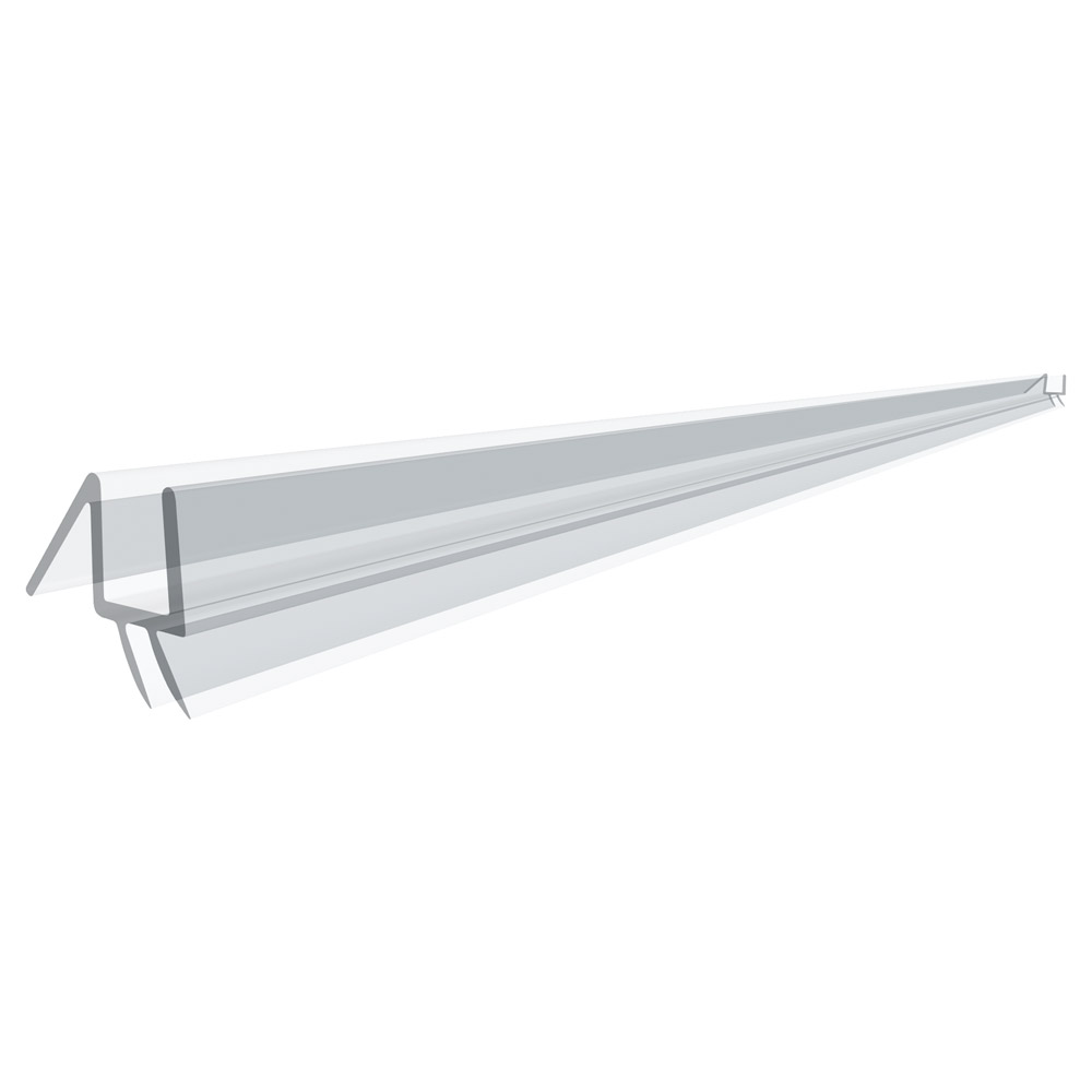 "36"" Clear Bottom Wipe with Drip Rail for 3/8"" (10mm) Glass"