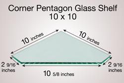 Corner Pentagon Glass Shelf